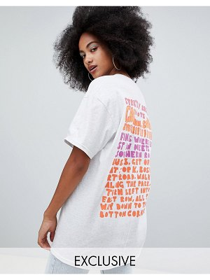 Crooked Tongues oversized t-shirt with carnival text