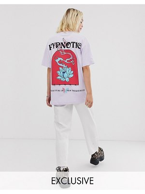 Crooked Tongues oversized t-shirt with flower hypnotic print