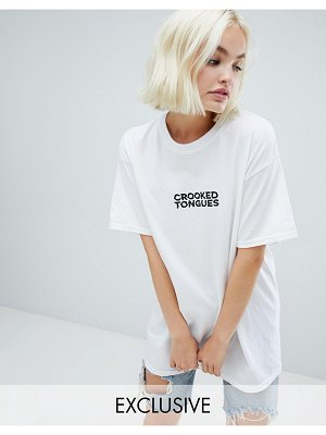 Crooked Tongues oversized t-shirt with logo print