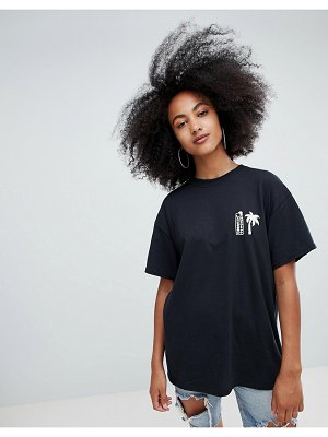 Crooked Tongues oversized t-shirt with palm and dice print