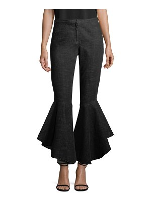 Crosley Denim Ruffle Pants