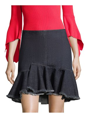 Crosley Ruffle Denim Mini Skirt