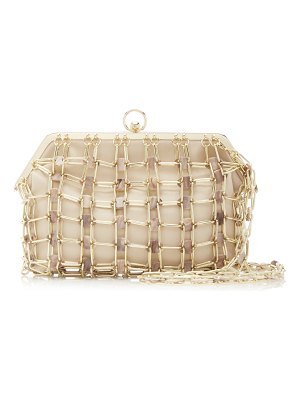 Cult Gaia amber acrylic and leather shoulder bag