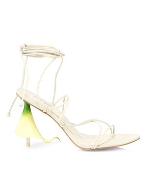 Cult Gaia cali ankle-wrap leather sandals