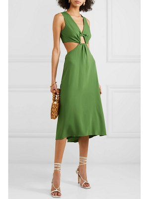 Cult Gaia cybele cutout crepe dress