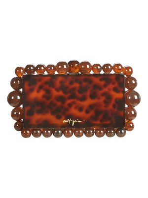 Cult Gaia eos beaded acrylic box clutch