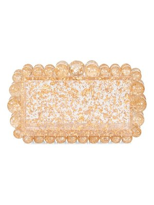 Cult Gaia eos bauble glitter acrylic box clutch
