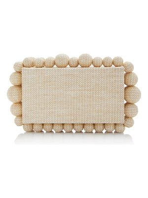 Cult Gaia eos embellished raffia box clutch