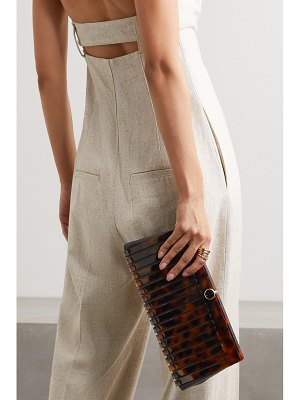 Cult Gaia iris acrylic and textured-leather clutch