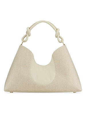 Cult Gaia Jaci Raffia Top Handle Tote Bag
