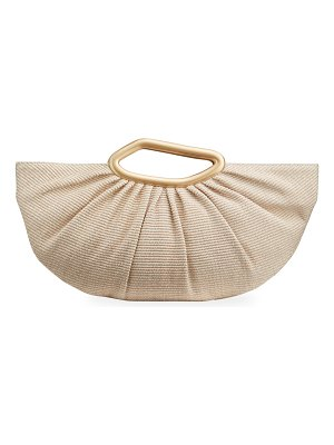 Cult Gaia Jada Raffia Top Handle Bag