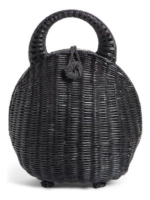 Cult Gaia millie rattan clutch