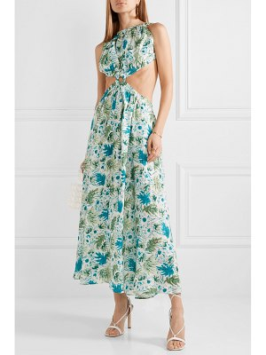 Cult Gaia theia cutout printed linen maxi dress