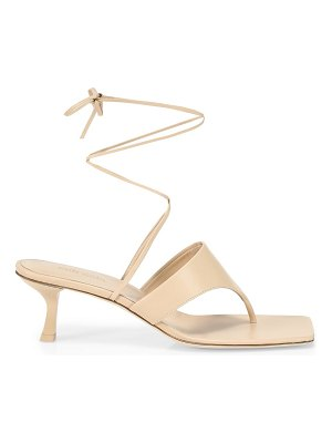 Cult Gaia vicky ankle-wrap leather sandals
