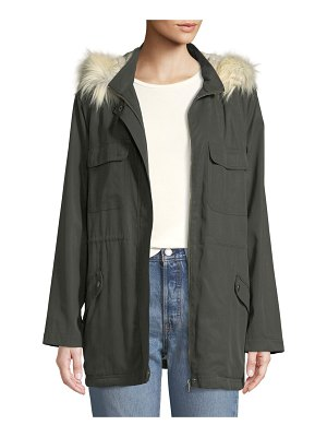 cupcakes and cashmere Angelique Faux-Fur Anorak Jacket with Removable Hood