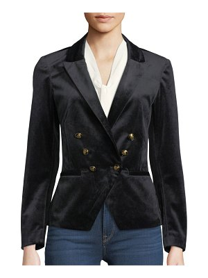 cupcakes and cashmere Belisma Velveteen Double-Breasted Blazer