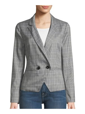 cupcakes and cashmere Belmont Plaid Double-Breasted Blazer