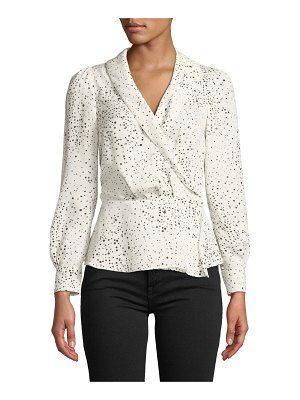 cupcakes and cashmere Diego Dot-Print Long-Sleeve Top