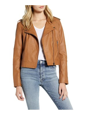 cupcakes and cashmere faux leather moto jacket