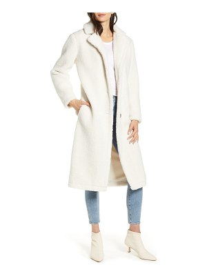 cupcakes and cashmere havana faux shearling coat