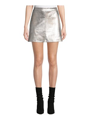 cupcakes and cashmere Keller Faux-Suede Short Skirt