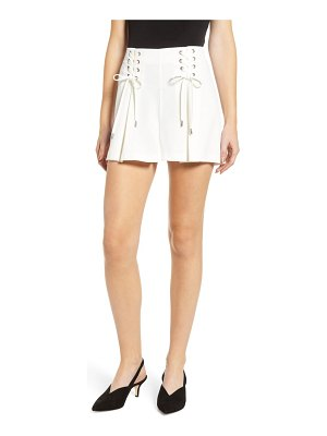 cupcakes and cashmere lace-up crepe shorts