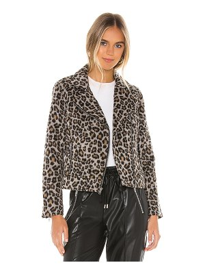 cupcakes and cashmere margaux leopard moto jacket