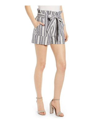 cupcakes and cashmere monterey stripe paperbag waist shorts