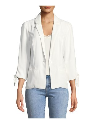 cupcakes and cashmere One-Button Tie-Cuff Jacket