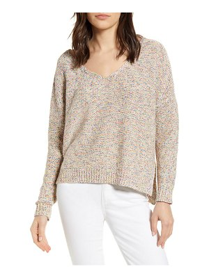 cupcakes and cashmere speckled v-neck sweater