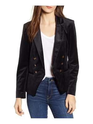 cupcakes and cashmere velveteen double breasted blazer