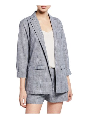 cupcakes and cashmere Wheeler Plaid Blazer