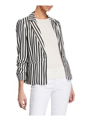 cupcakes and cashmere Winston Striped One-Button Blazer