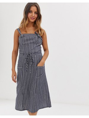 Current Air chambray stripe pinny dress-blue
