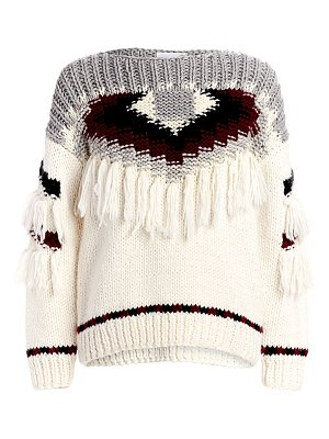 Current/Elliott rosemary fringe sweater