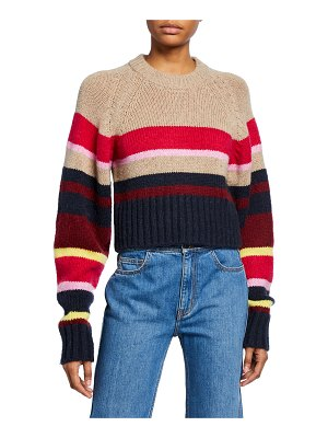 Current/Elliott The Moonshine Striped Crop Sweater