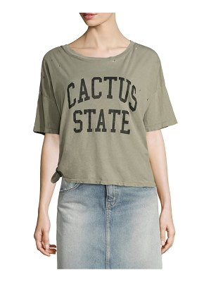 Current/Elliott The Roadie Cotton Knot Graphic Cropped Tee