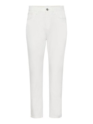 Current/Elliott the vintage cropped mid-rise slim jeans