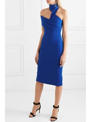Cushnie asymmetric cutout crepe midi dress