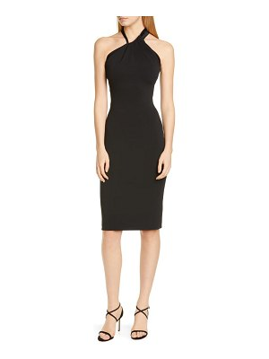 Cushnie asymmetrical halter body-con dress