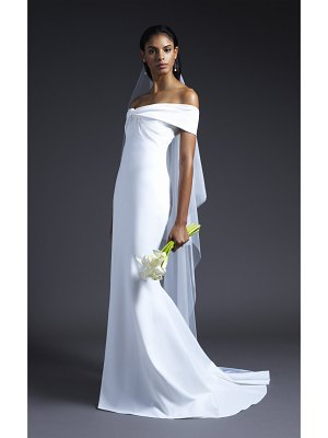 Cushnie Bridal candice off shoulder bodice gown with train