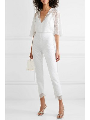 Cushnie cropped lace jumpsuit