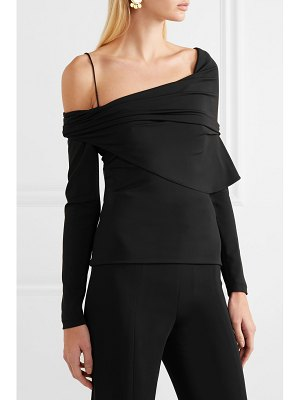 Cushnie draped one-shoulder stretch-crepe top