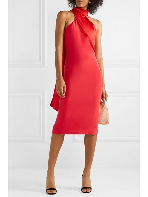 Cushnie draped silk-satin dress