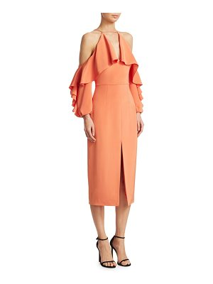 Cushnie cold shoulder pencil dress