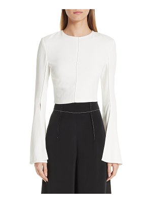 Cushnie flare sleeve crop top