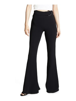 Cushnie et Ochs high waist flare pants with d ring buckle