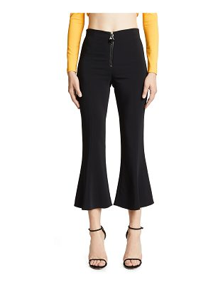 Cushnie et Ochs high waisted cropped flare pants