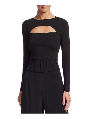 Cushnie et Ochs long-sleeve knit top