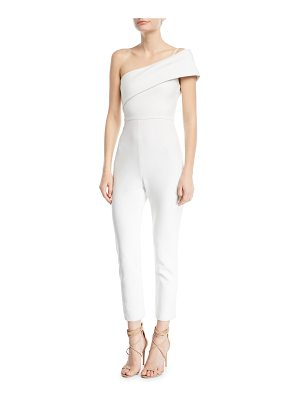 Cushnie et Ochs One-Shoulder Straight-Leg Crepe Jumpsuit